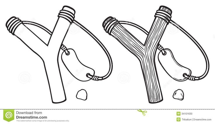 david and goliath coloring page -