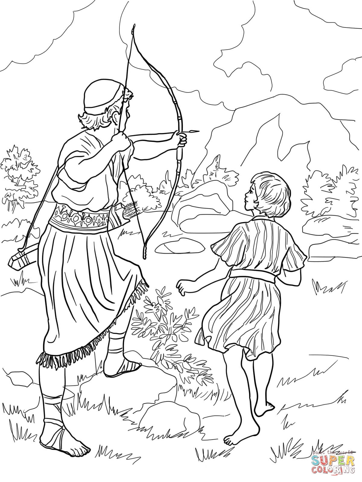 David and Jonathan Coloring Page - 301 Moved Permanently
