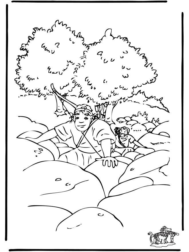 25 David and Jonathan Coloring Page Pictures FREE COLORING PAGES