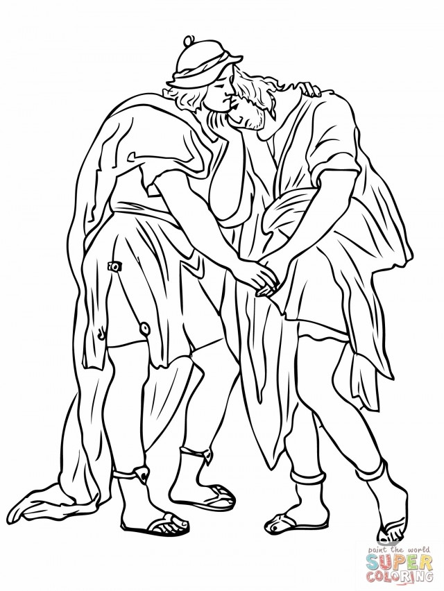 25 David and Jonathan Coloring Page Pictures | FREE COLORING PAGES