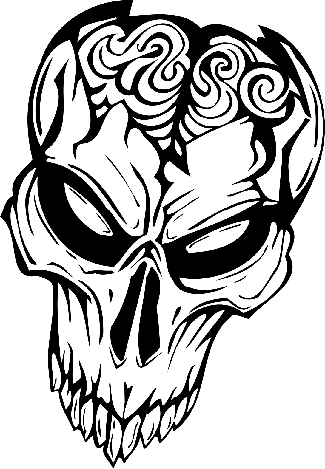 day of the dead coloring pages - Monster Masken mscull 001