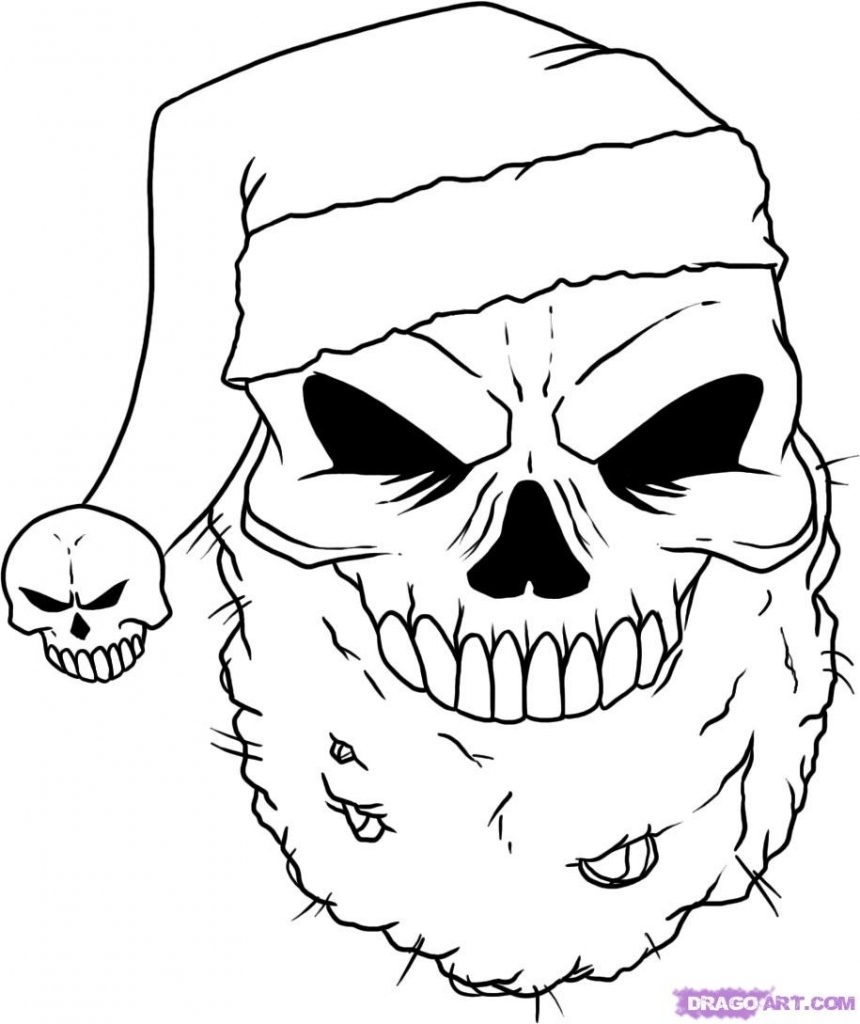 day of the dead coloring pages for adults - christmas drawings ideas how to draw a christmas skull step step skulls pop culture