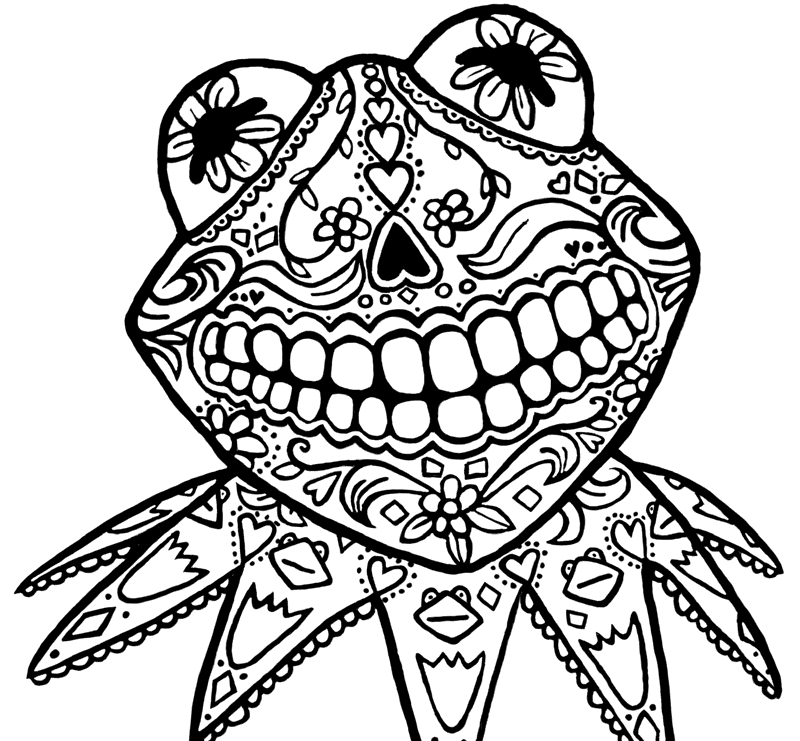 day of the dead skull coloring page - day of the dead skull coloring pages