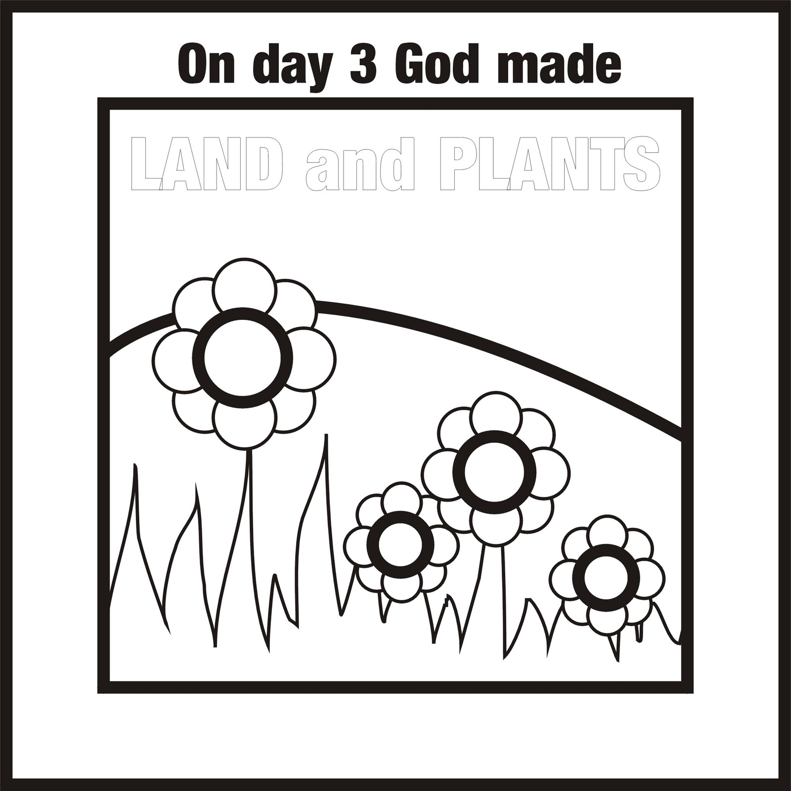 days of creation coloring pages - days of creation colouring pages