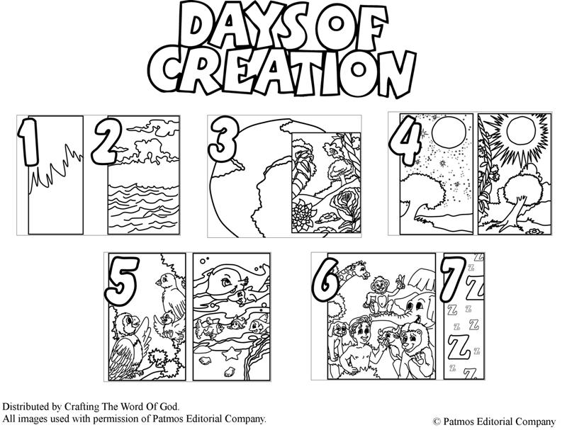 Days Of Creation Coloring Pages - Days Of Creation Coloring Page Crafting the Word God