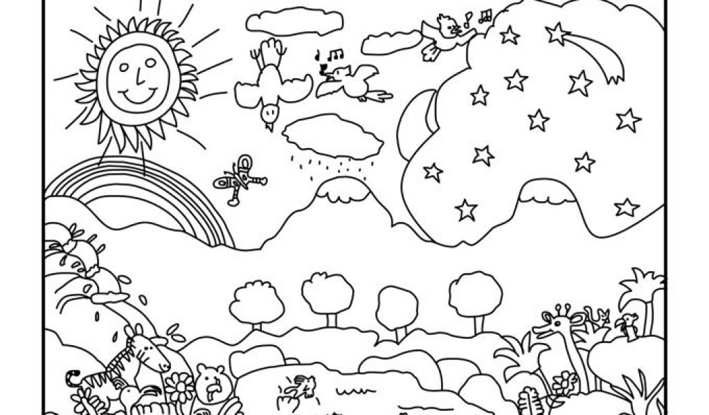 days of creation coloring pages - 7 days of creation coloring