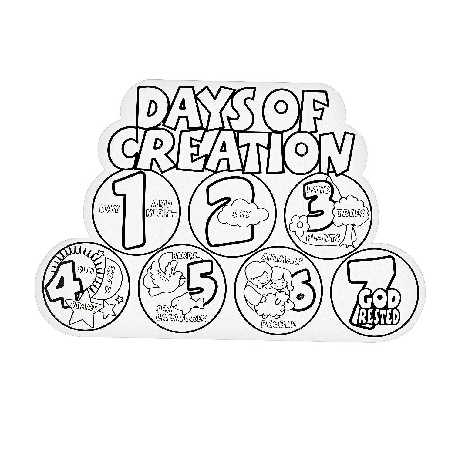 days of creation coloring pages - days of creation coloring pages