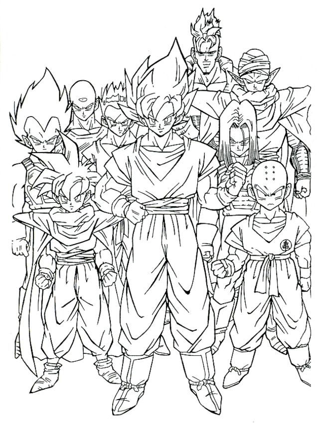 dbz coloring pages - dbz coloring pages 2