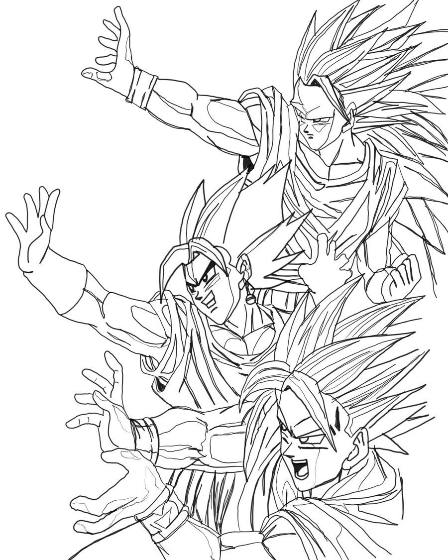 Dbz Coloring Pages - Free Printable Dragon Ball Z Coloring Pages for Kids