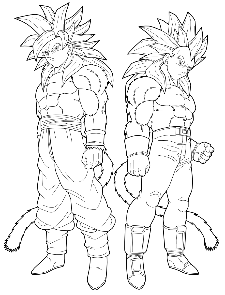 dbz coloring pages - dragon ball z coloring pages