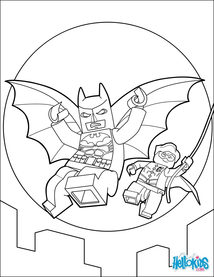dc coloring pages - lego batman