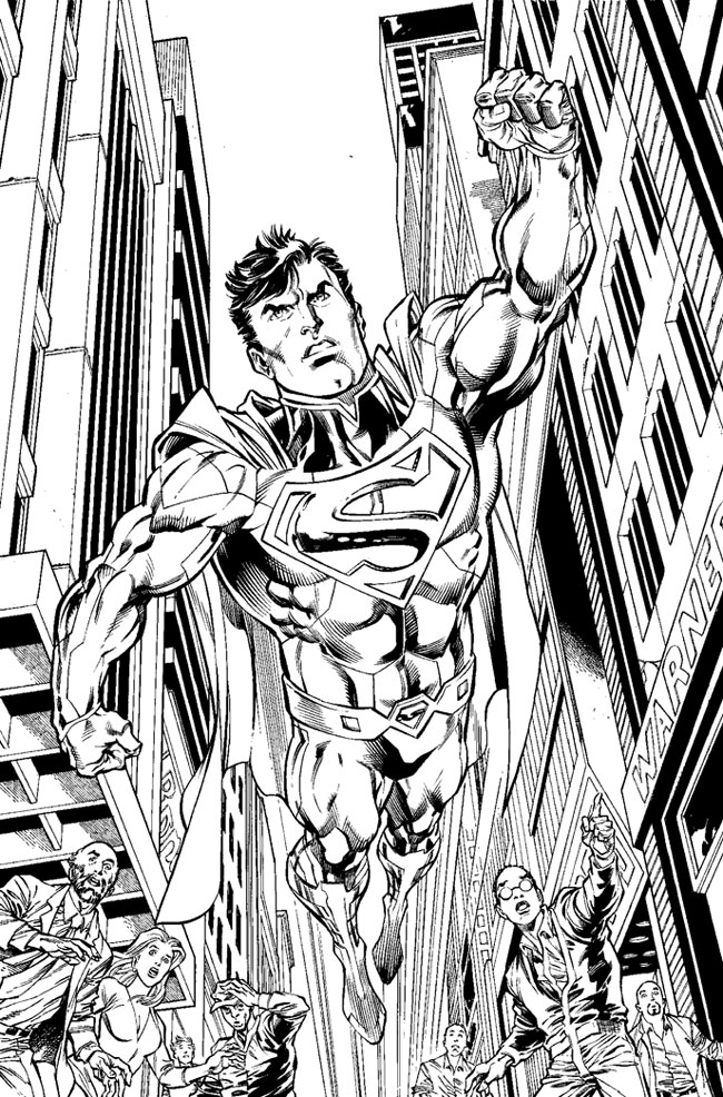 dc coloring pages - process