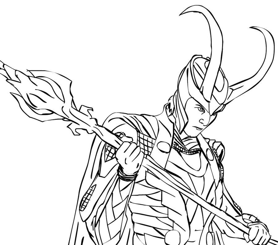 dc comics coloring pages - loki 2