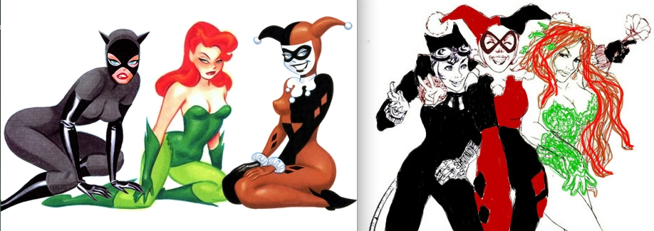 dc comics coloring pages - my take on The Gotham Girls