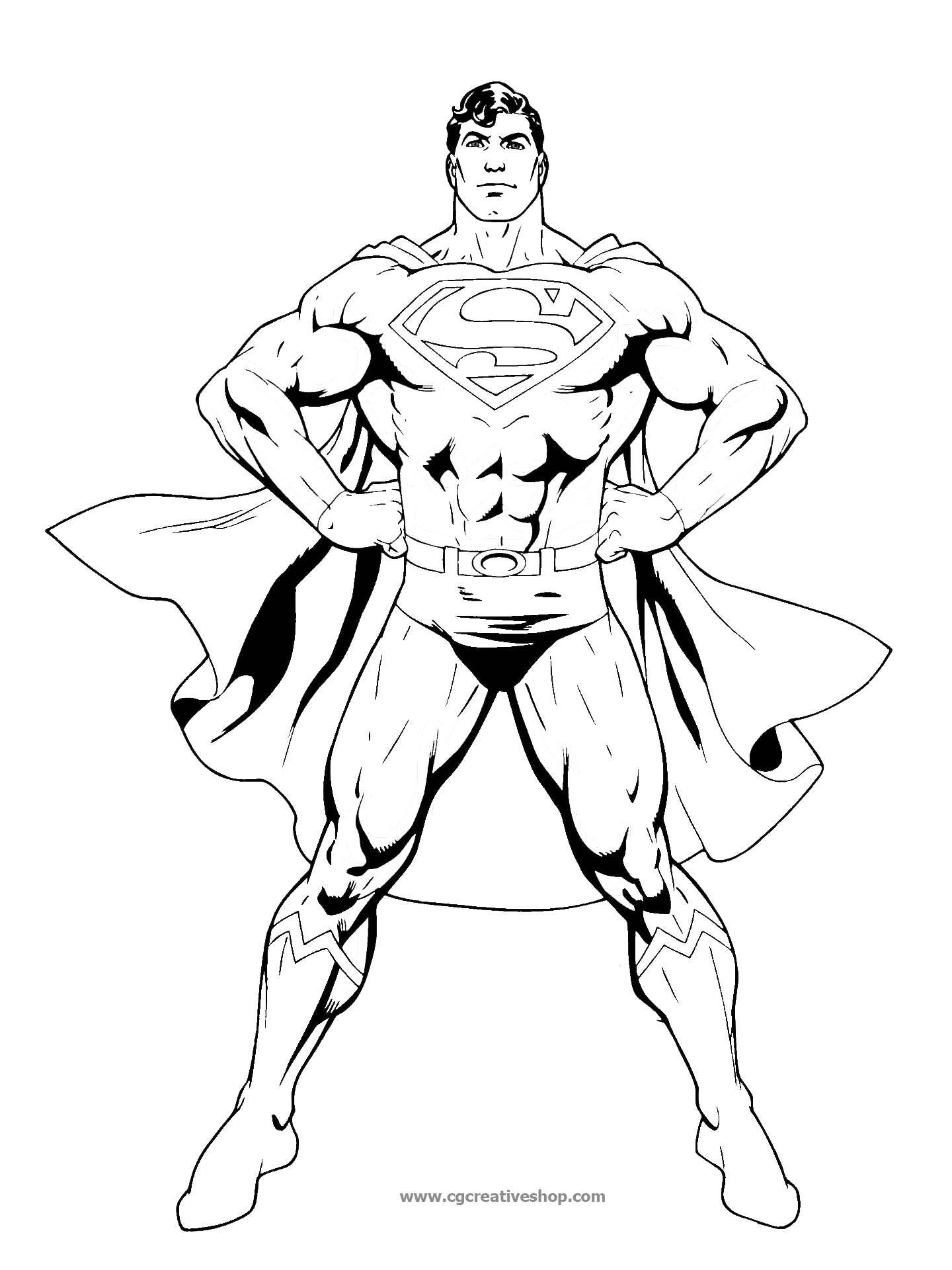dc comics coloring pages - 3593 superman disegno da colorare