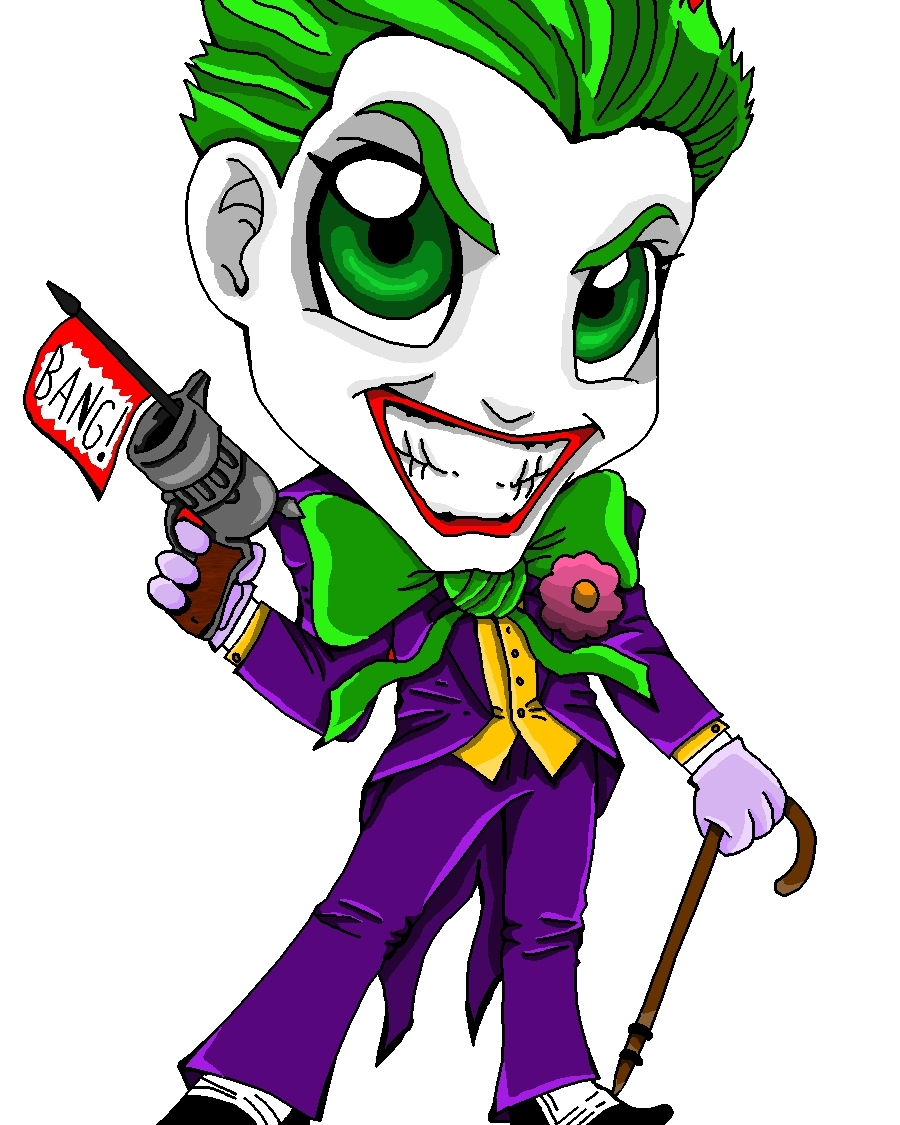 dc superhero girls coloring pages - Chibi Joker