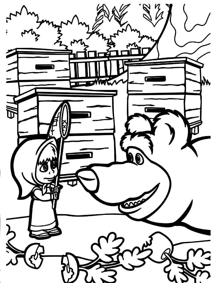 dc superhero girls coloring pages - masha and the bear coloring pages for your kids