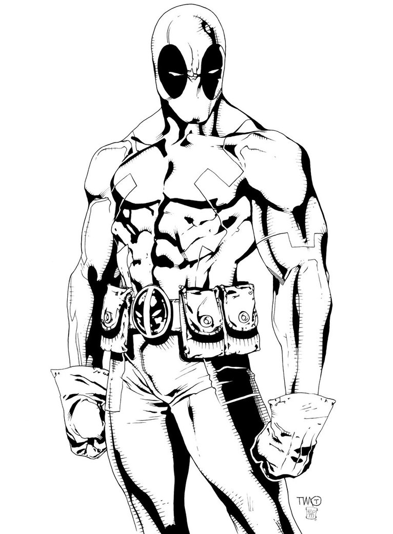 deadpool coloring pages - 1