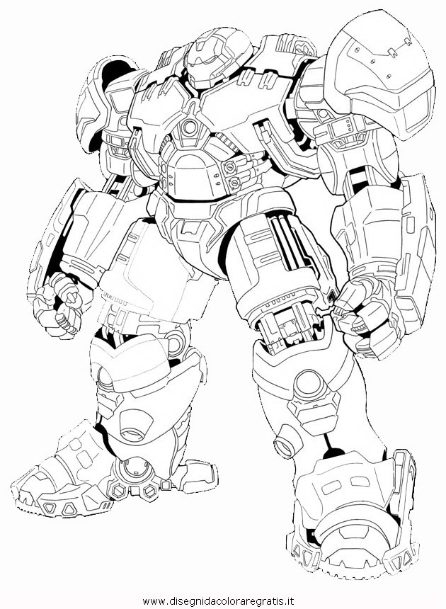 deadpool coloring pages - disegno hulkbuster 2