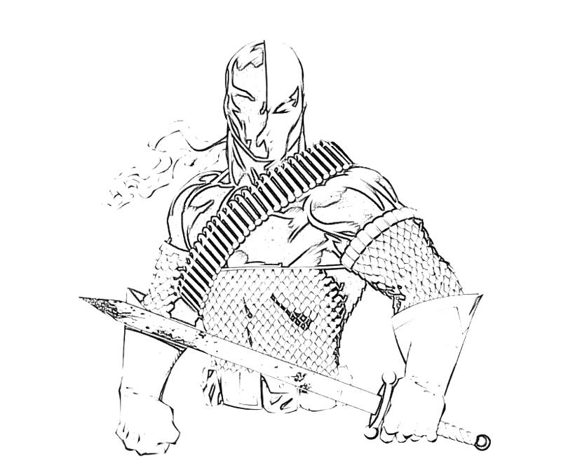 deathstroke coloring pages - deadpool vs stroke coloring pages to print sketch templates