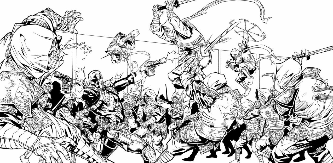 deathstroke coloring pages - stroke coloring pages