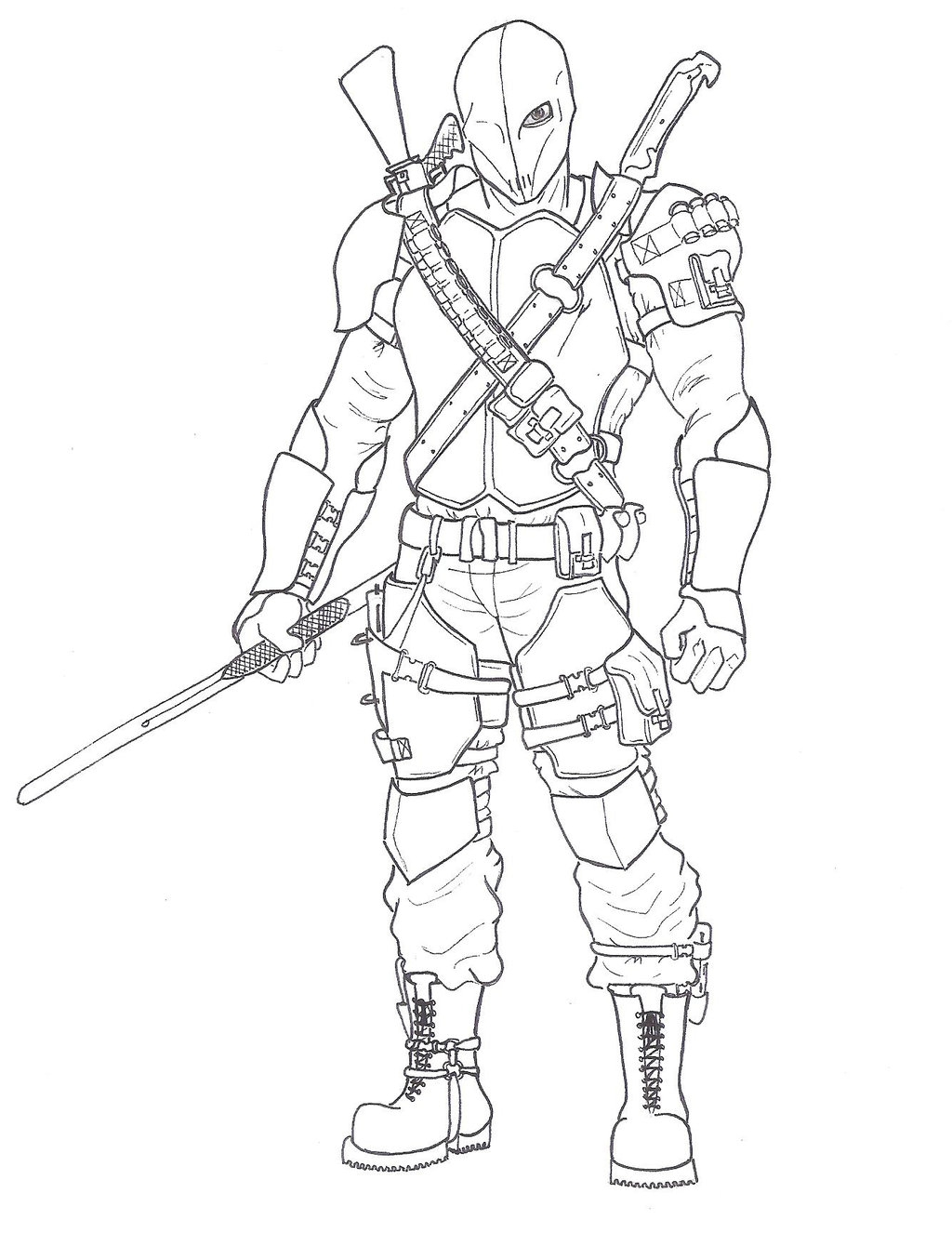 deathstroke coloring pages - stroke coloring pages for kidstml