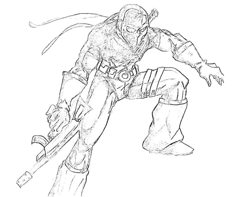 deathstroke coloring pages - stroke