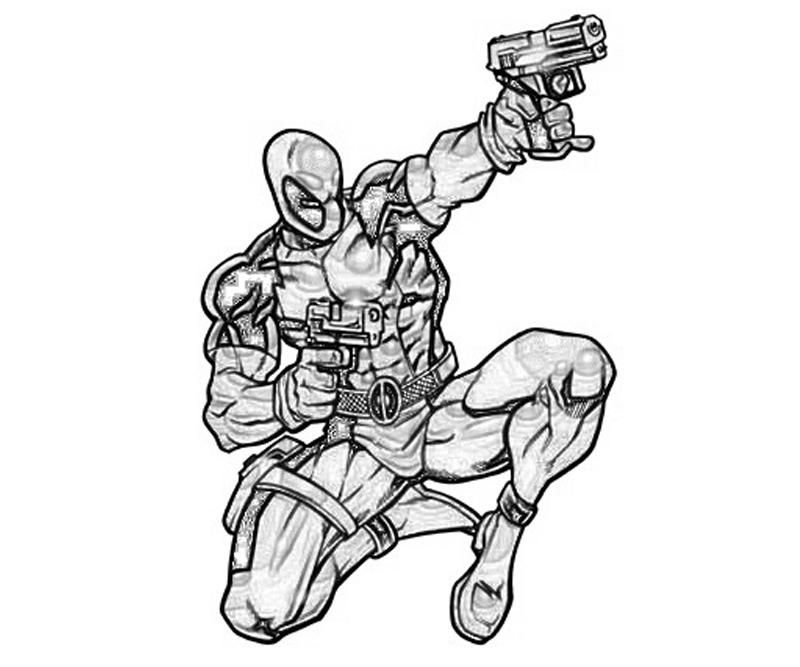 Deathstroke Vs Deadpool Coloring Pages Design Templates