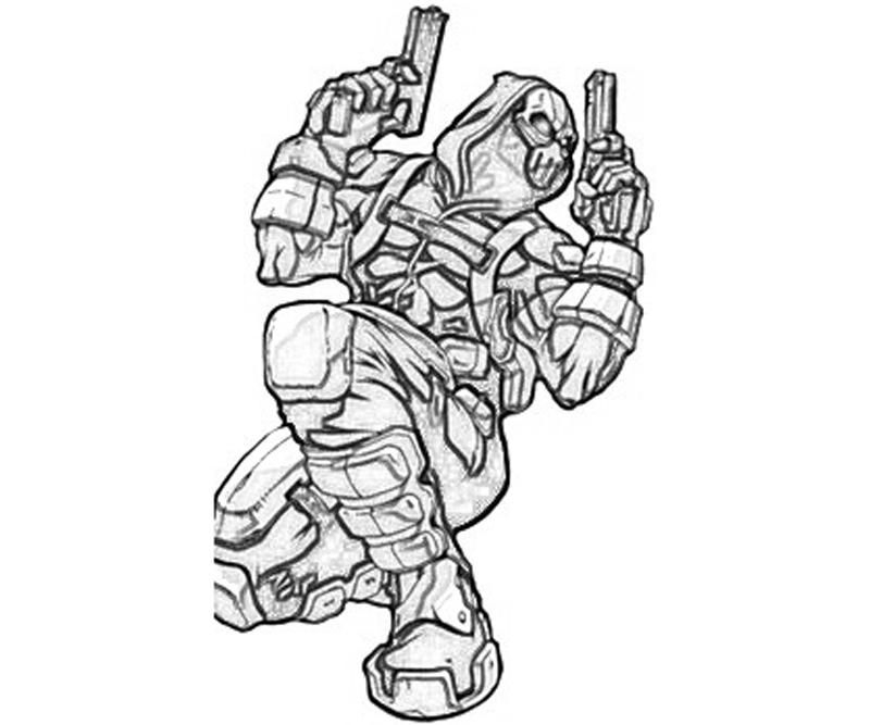 deathstroke coloring pages - stroke vs deadpool coloring pages