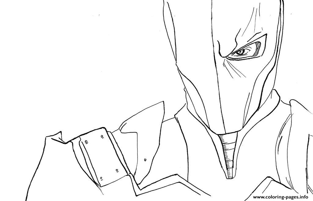 deathstroke coloring pages - face stroke arkham origins printable coloring pages book
