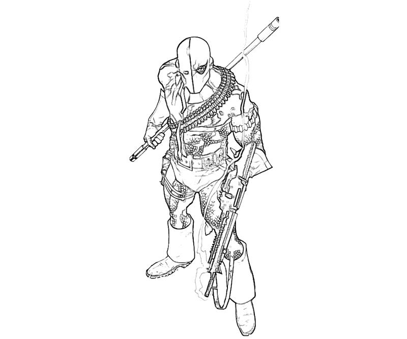 deathstroke coloring pages - r=origins