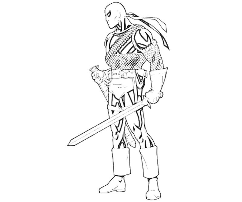 Deathstroke Coloring Pages - Free Stroke Coloring Pages