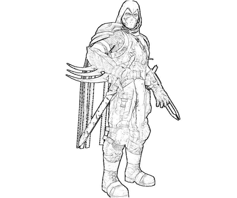 deathstroke coloring pages -