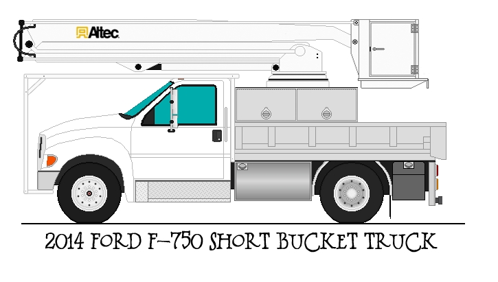 december coloring pages - 2014 Ford F 750 Tree Service Bucket Truck Base