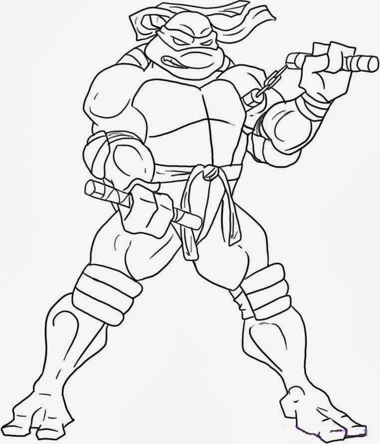 december coloring pages - mutant ninja turtles coloring pages