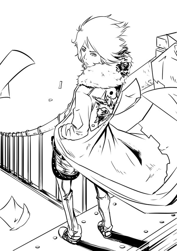 demon coloring pages - boy lineart