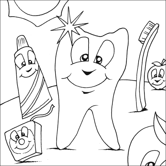 Dental Coloring Pages - Dentist Coloring