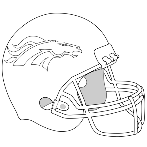 denver broncos coloring pages - denver broncos helmet