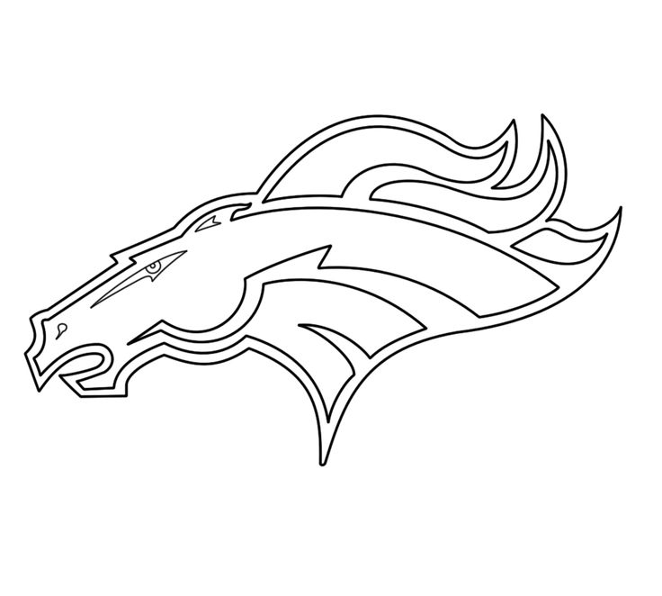 Denver Broncos Coloring Pages - Printable Denver Broncos Coloring Pages
