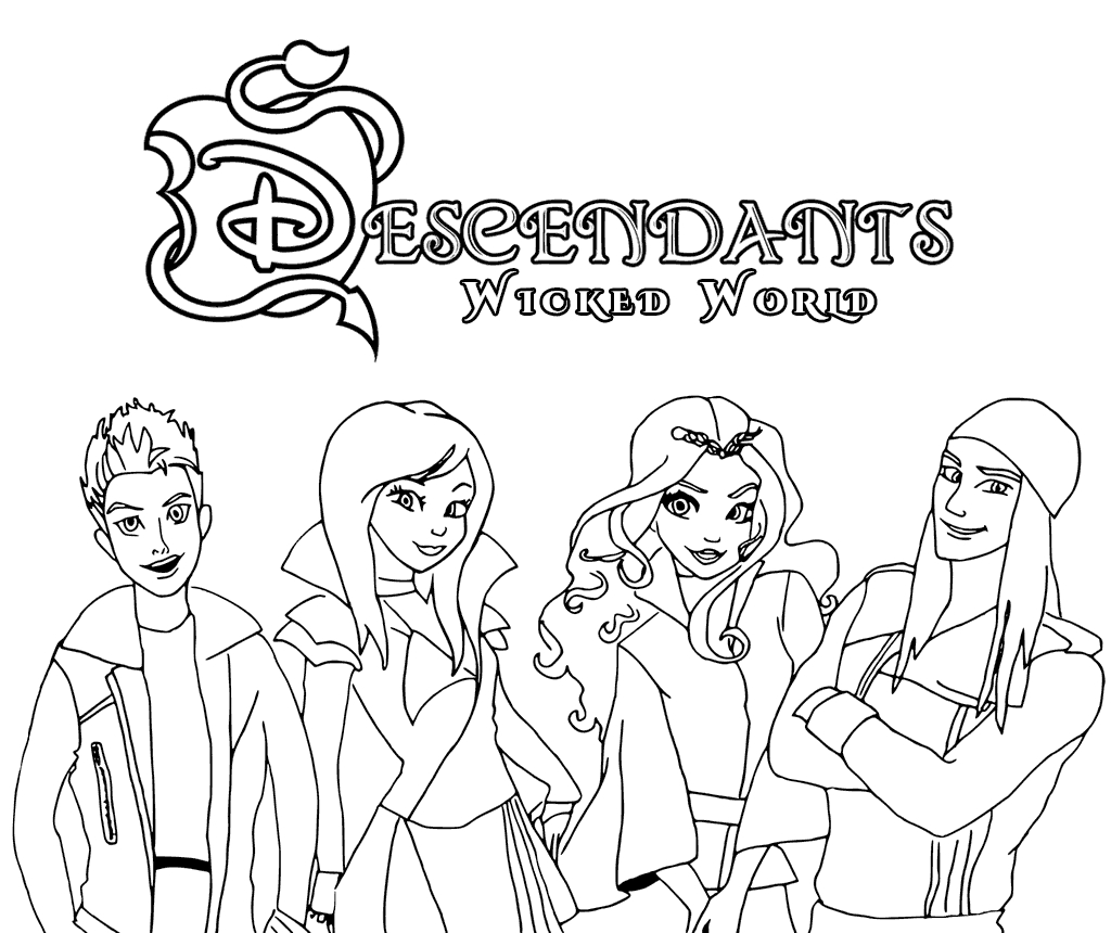 descendants 2 coloring pages - coloring pages disney descendants