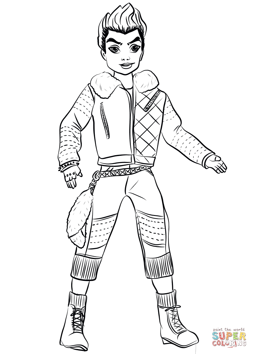 picture relating to Descendants Printable Coloring Pages called 23 Descendants 2 Coloring Web pages Determination Free of charge COLORING