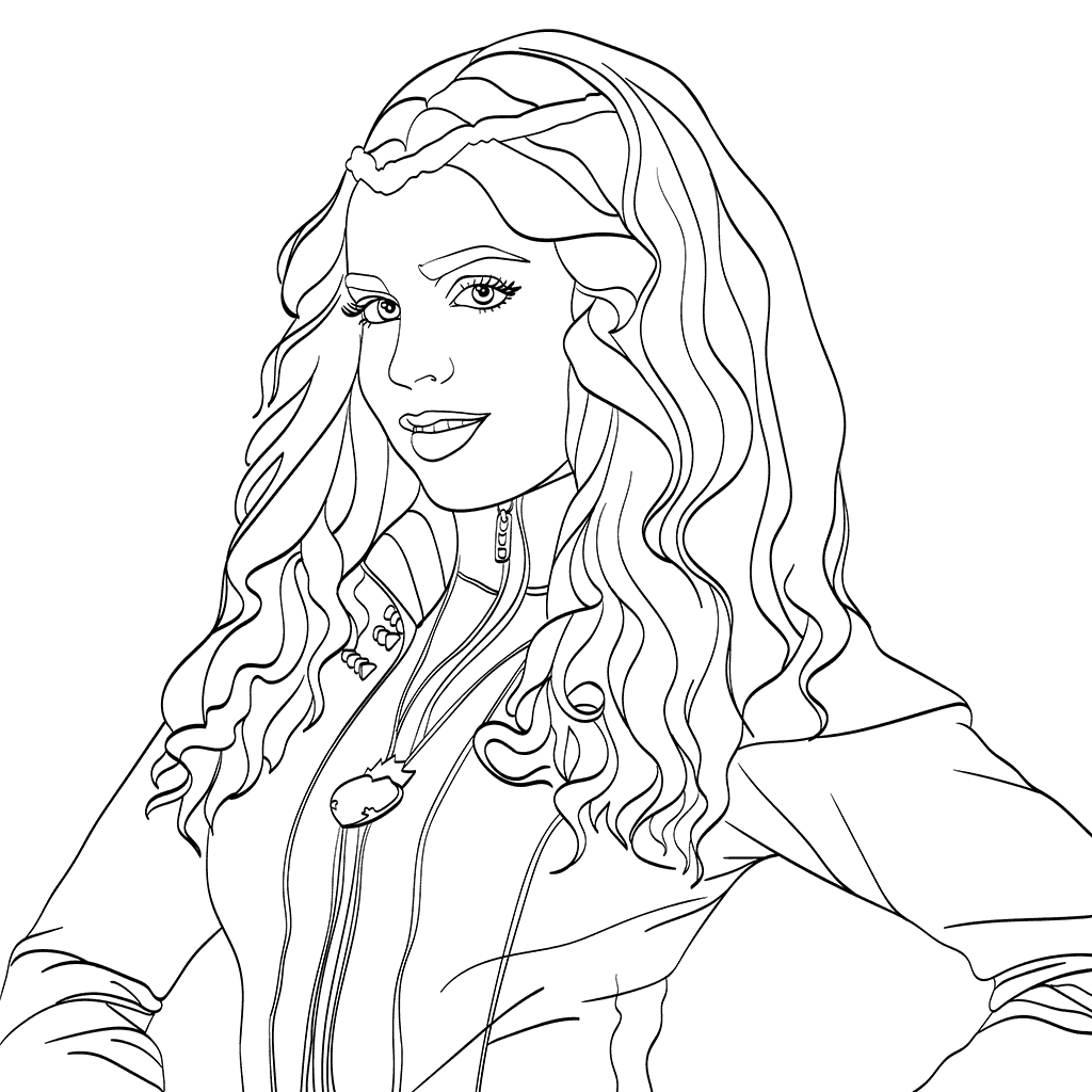 descendants 2 coloring pages - disney descendants 2 coloring pages