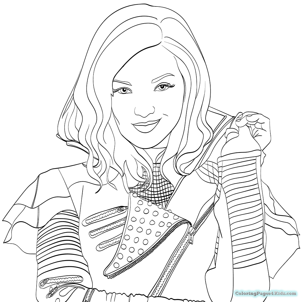 Descendants Coloring Pages - Descendants Coloring Pages 2