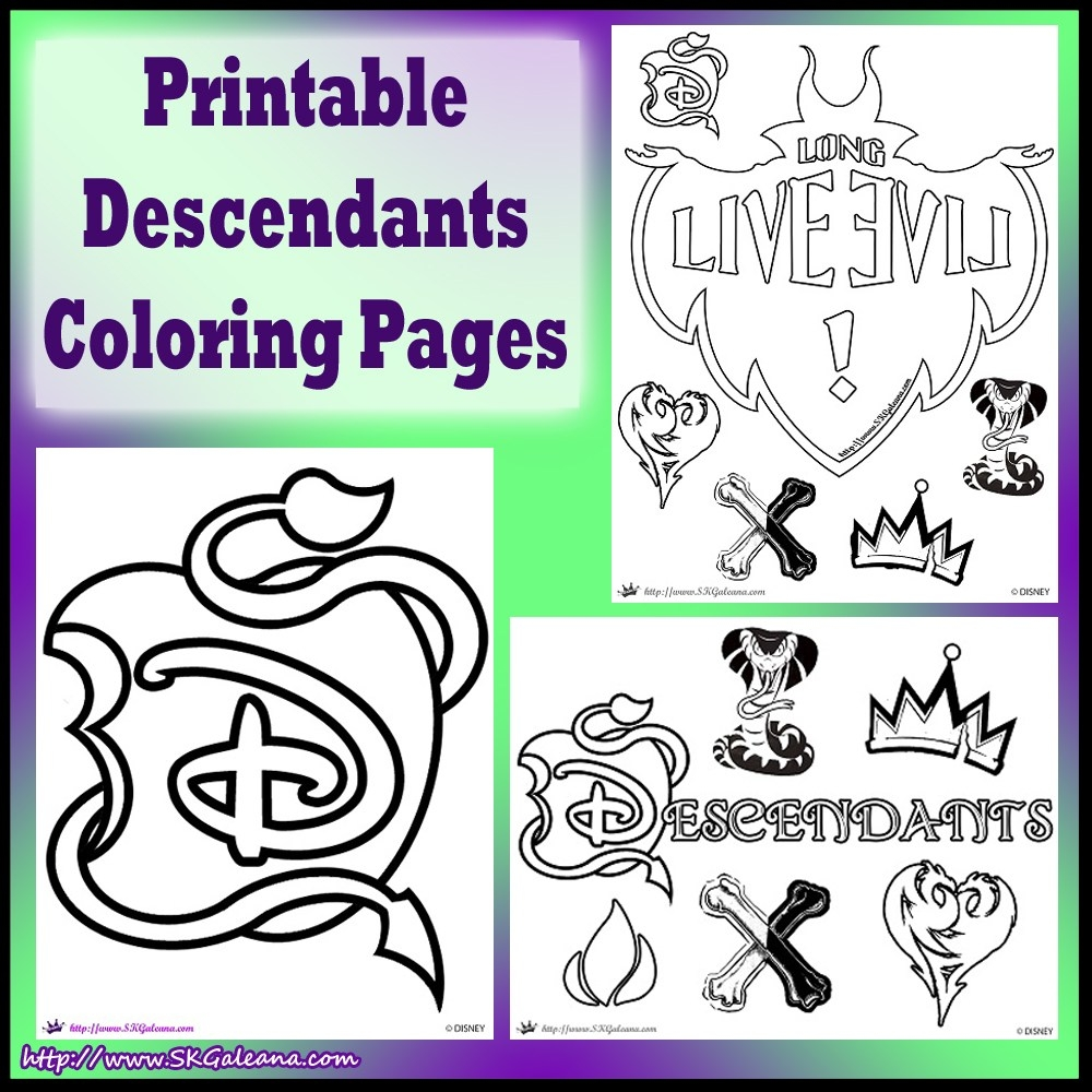 23 Descendants Coloring Pages Images | FREE COLORING PAGES - Part 3