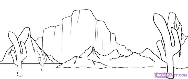 desert coloring pages -