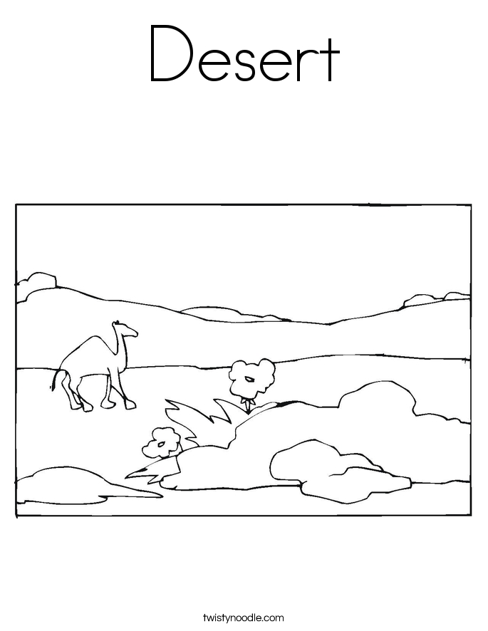 desert coloring pages - desert coloring page