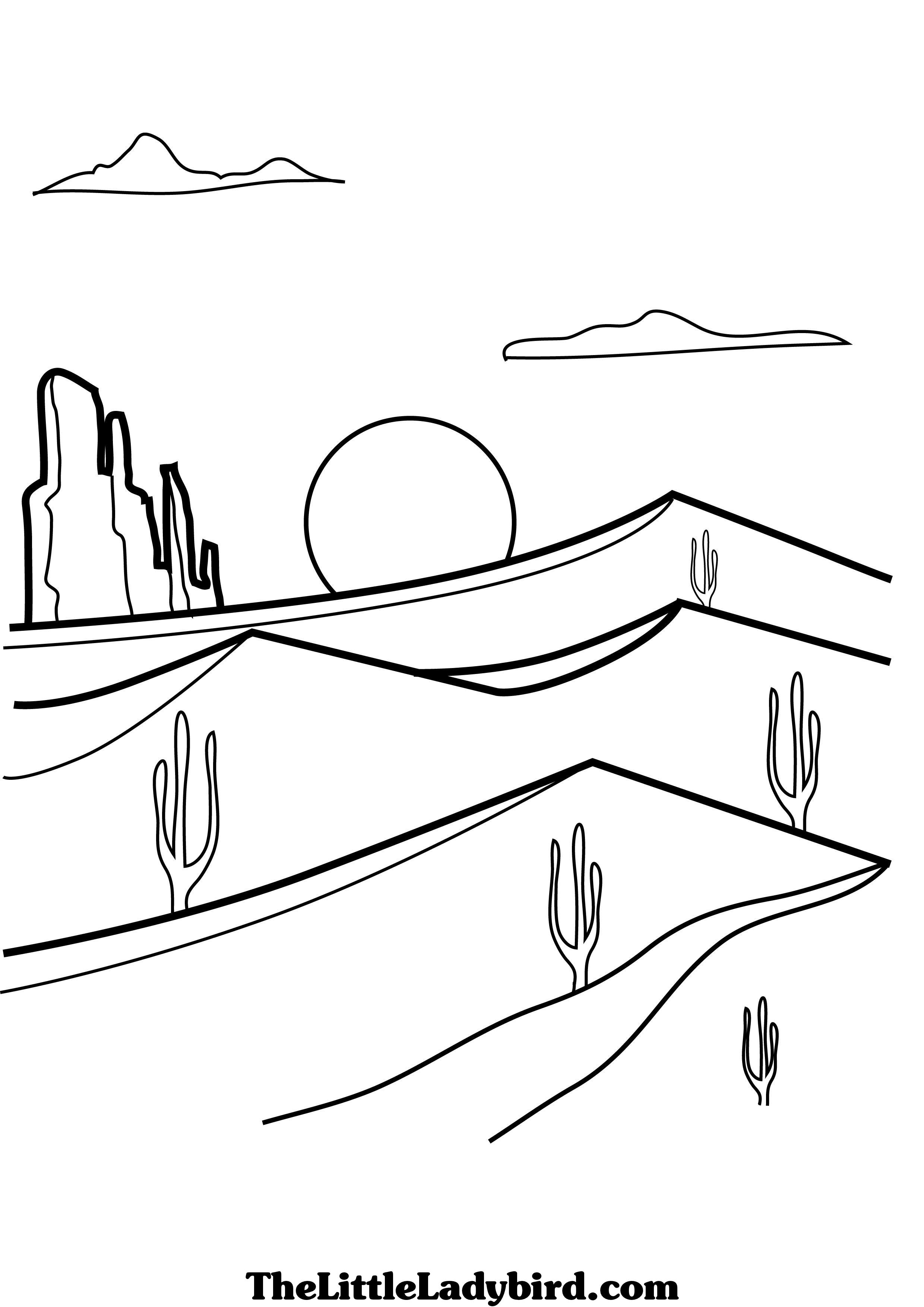 desert coloring pages - desert free online coloring