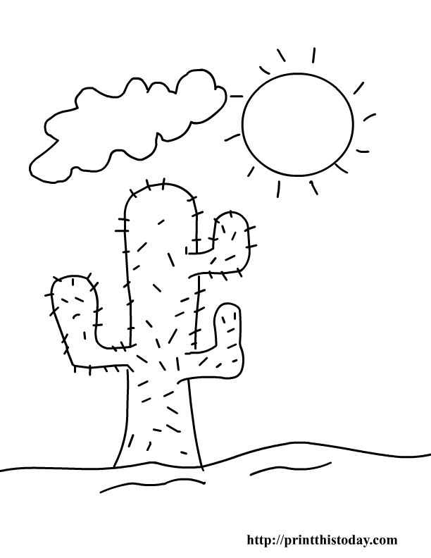 desert coloring pages - free printable summer coloring pages