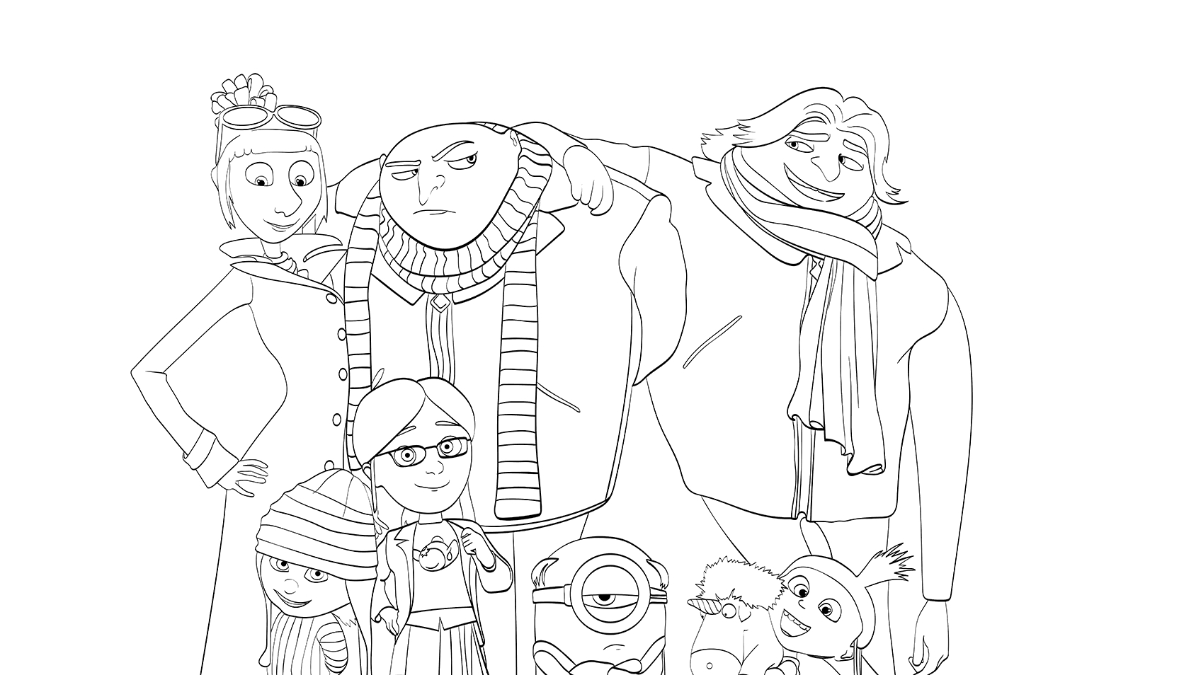 despicable me 3 coloring pages - despicable me 3 coloring pages