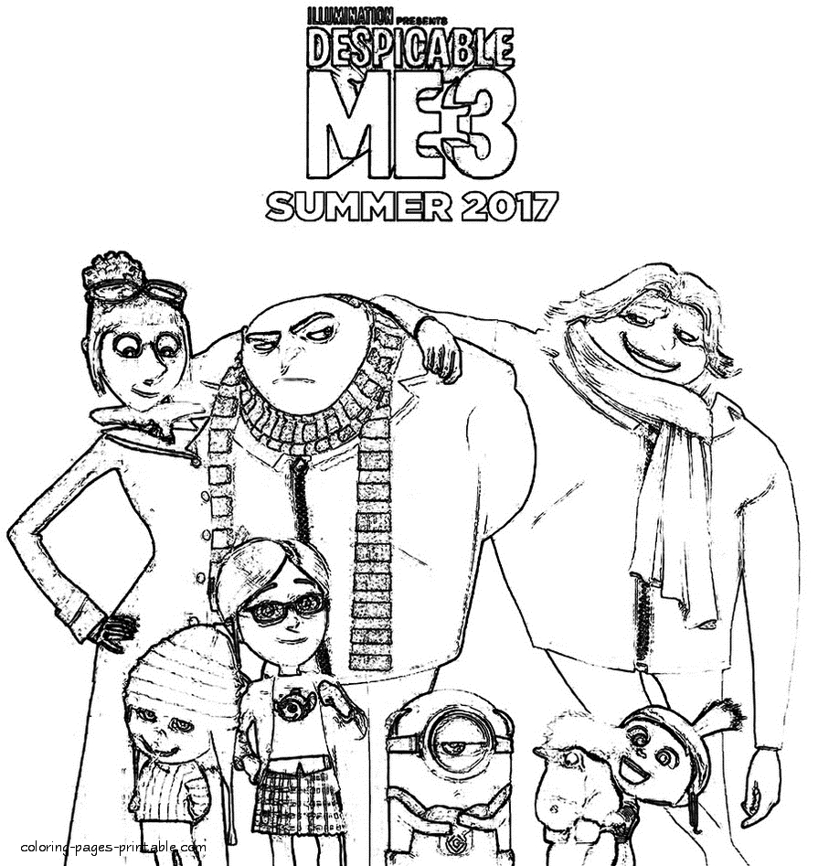 despicable me 3 coloring pages - despicable me 3 coloring pages id=1